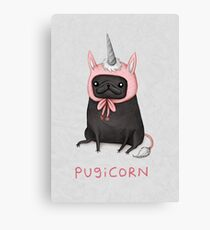 Pugicorn Canvas Print