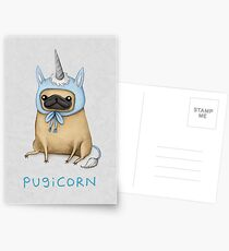 Pugicorn - Fawn Postcards