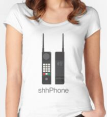Funny Vintage Mobile Phone Women's Fitted Scoop T-Shirt