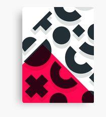 Minimal Abstract Art Pattern Geometric Canvas Print