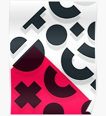 Minimal Abstract Art Pattern Geometric Poster