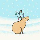 Christmas Capybara by zoel