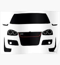 VW Golf GTI mk5 - Silhouette Poster