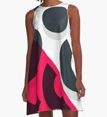 Minimal Abstract Art Pattern Geometric A-Line Dress