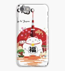 Tokyo, Japan, attractions, modern travel poster iPhone Case/Skin