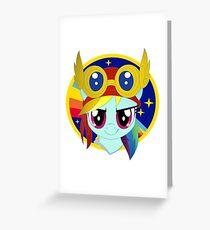pilot rainbow dash flight patch Greeting Card