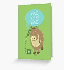 Yak on the Phone Greeting Card