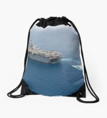 A landing craft air cushion approaches the well deck of USS Kearsarge. Drawstring Bag