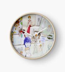 Helianthus collage clock Clock