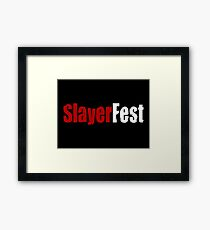 Buffy - Slayer Fest Framed Print