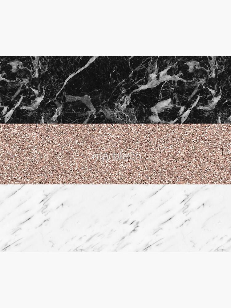 Marmorstreifen - Deauville Roségold von marbleco