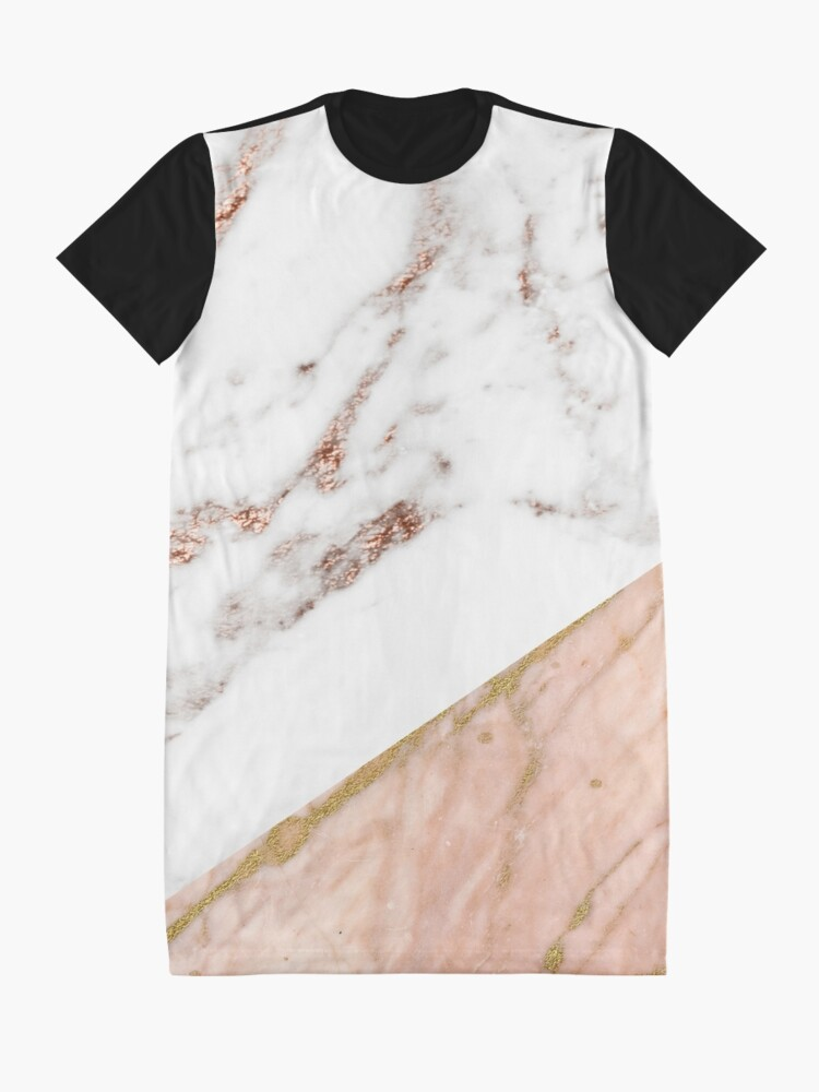 Alternate view of Rose gold marble blended Graphic T-Shirt Dress