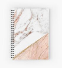 Rose gold marble blended Spiral Notebook