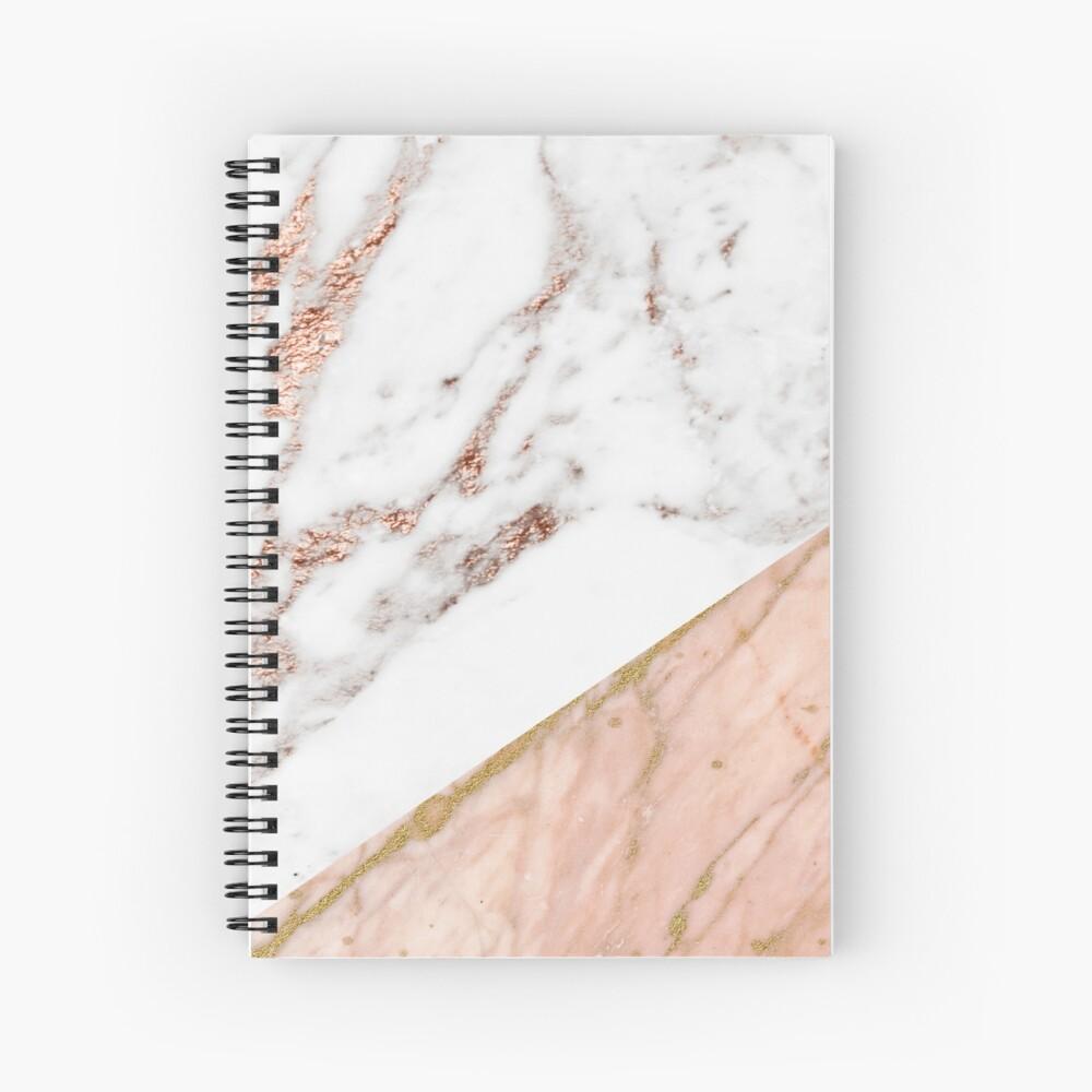 Rose gold marble blended Spiral Notebook