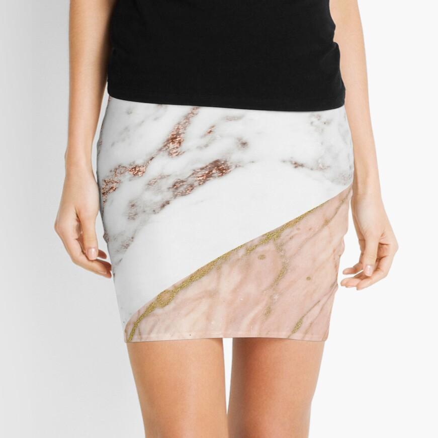 Rose gold marble blended Mini Skirt