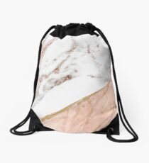 Rose gold marble blended Drawstring Bag