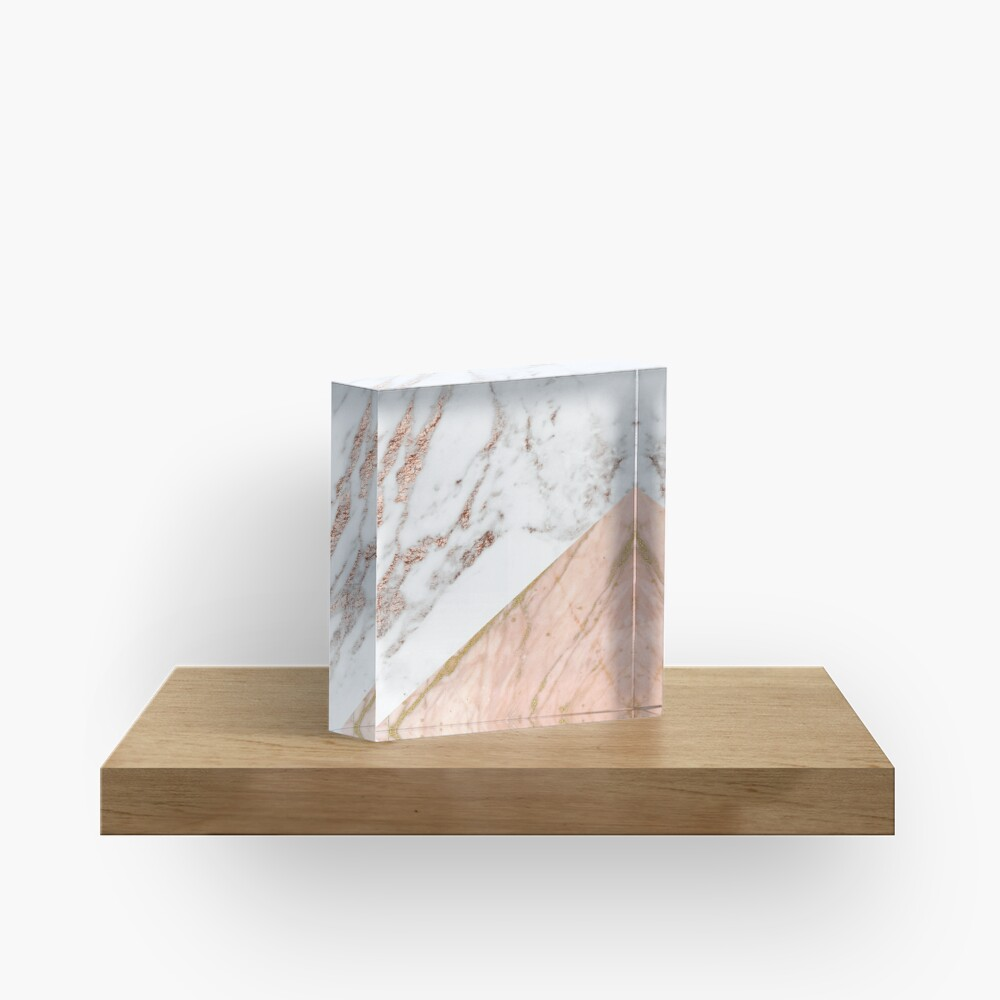 Rose gold marble blended Acrylic Block