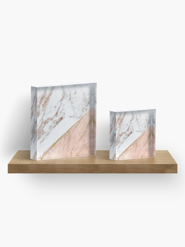 Alternate view of Rose gold marble blended Acrylic Block