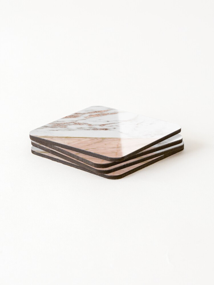 Alternate view of Rose gold marble blended Coasters (Set of 4)