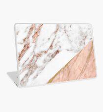 Rose gold marble blended Laptop Skin