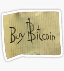 Buy Bitcoin Sign Sticker