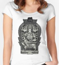 Ganesha the Remover of Obstacles Women's Fitted Scoop T-Shirt