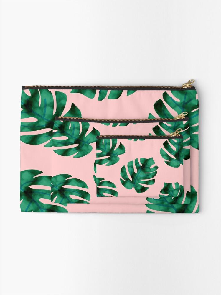 Alternative Ansicht von Tropische Farnblätter auf Pfirsich Täschchen