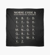 Morse Code And Phonetic Alphabet Scarf