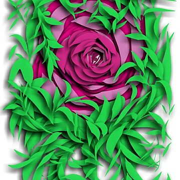 The Eye Deep within the rose by TinaCruzArt1