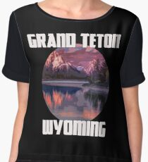 Grand Teton Park - Wyoming Women's Chiffon Top