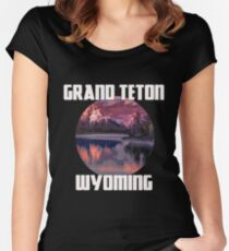 Grand Teton Park - Wyoming Women's Fitted Scoop T-Shirt