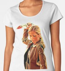 'Buffy in Black' by JACKASH Women's Premium T-Shirt