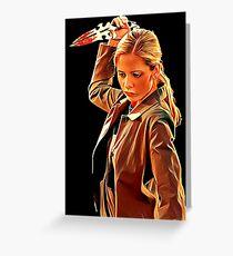 'Buffy in Black' by JACKASH Greeting Card