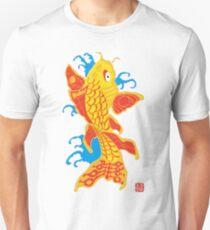 Rising Carp 001 in Yellow Unisex T-Shirt