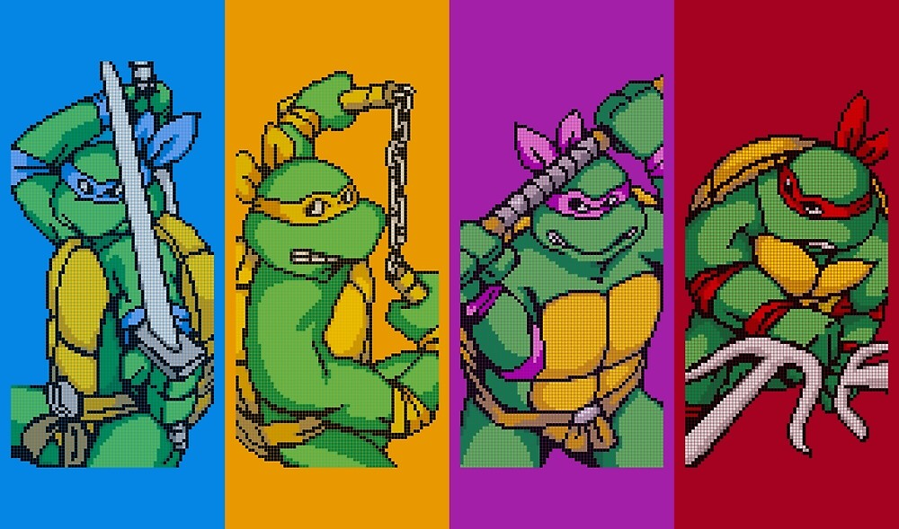 TMNT Rainbow, Pixel Arcade Edition by horatiohayden