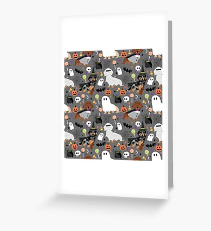 Dachshund dog breed halloween dog costume doxie dachsie pet friendly pattern Greeting Card