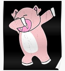 Dabbing Pig Shirt Poster