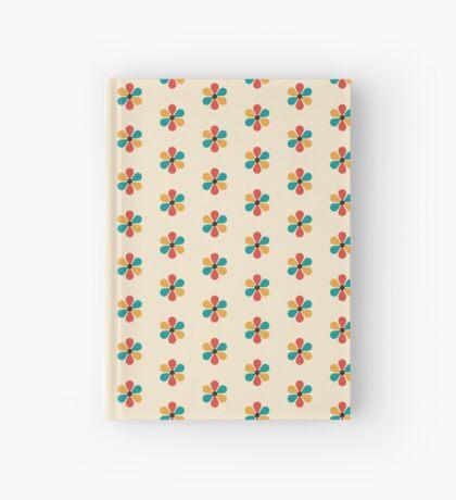 Flor de color retro vintage de mediados del siglo Cuaderno de tapa dura
