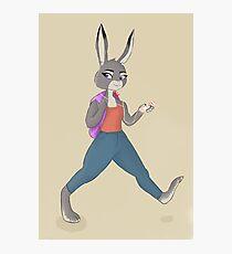 Anthro bunny Photographic Print
