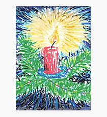 1507 - Christmas Candle Photographic Print
