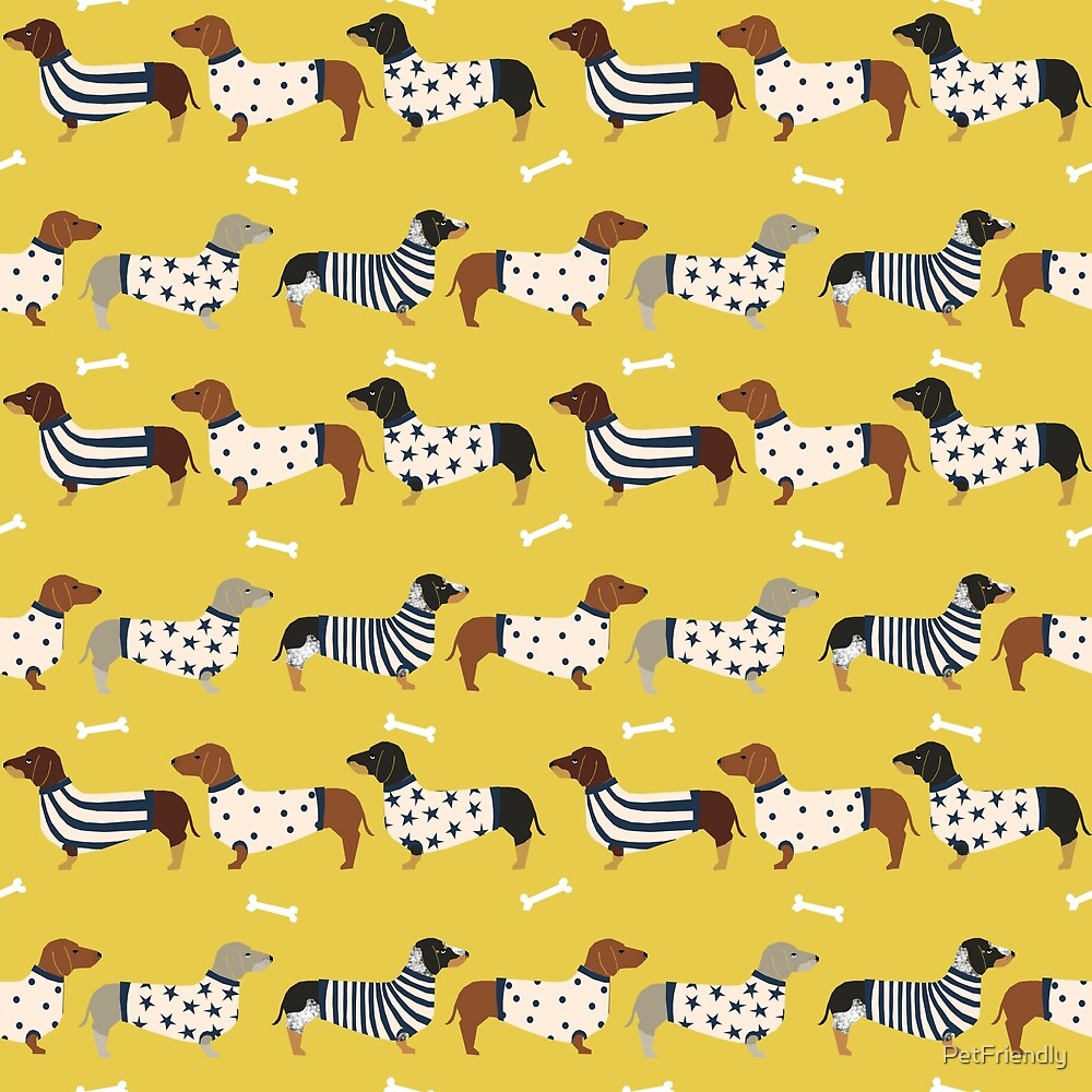 Dachshund dog breed weener dog sweater doxie dachsie pet friendly pattern by PetFriendly