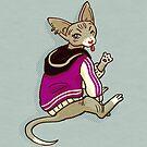 Asexuality pride sphynx kitty by maarika