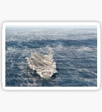 USS George H.W. Bush sails in the Atlantic Ocean. Sticker