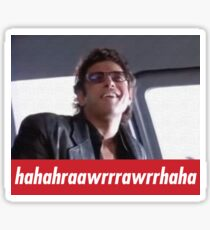 Jeff Goldblum Laugh  Sticker