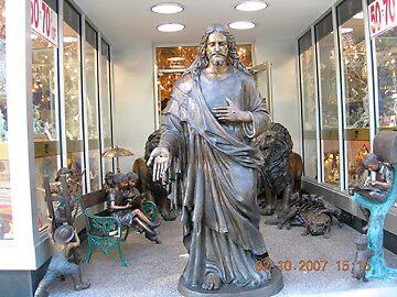 Jesus Bronze by Lazarita Betancourt