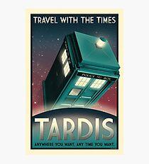 Now Boarding: TARDIS Photographic Print