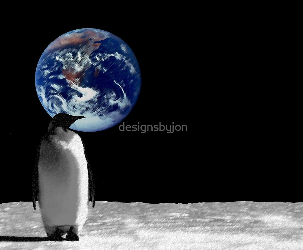 Penguins in High Places by designsbyjon