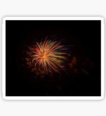 Splash of Fireworks Color  Sticker