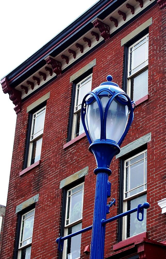 Blue Lamp post by Judi Taylor