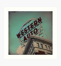 Western Auto Building - Kansas City, Missouri Art Print